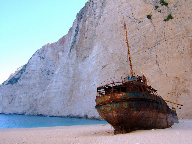 Shipwreck of Navagio by: Ghost of Kuji (CC)