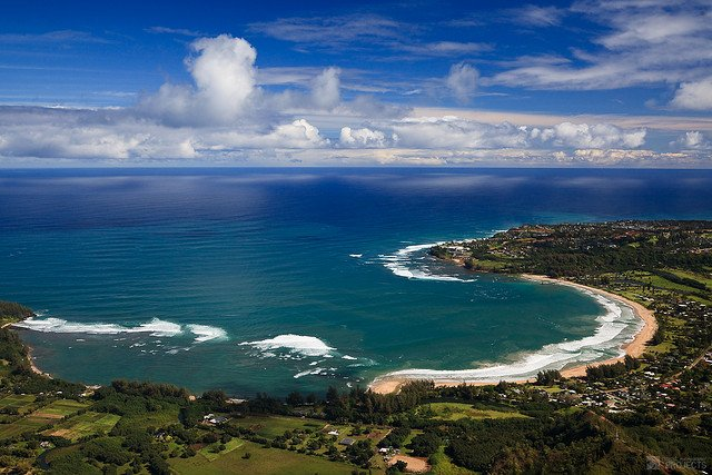 From the Air - Hanalei Bay, Kauai by: Jeremy Hall (CC)
