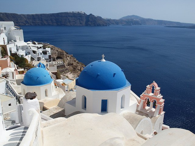 Belltowers and Domes in Oia, Santorini by: Anita (CC)