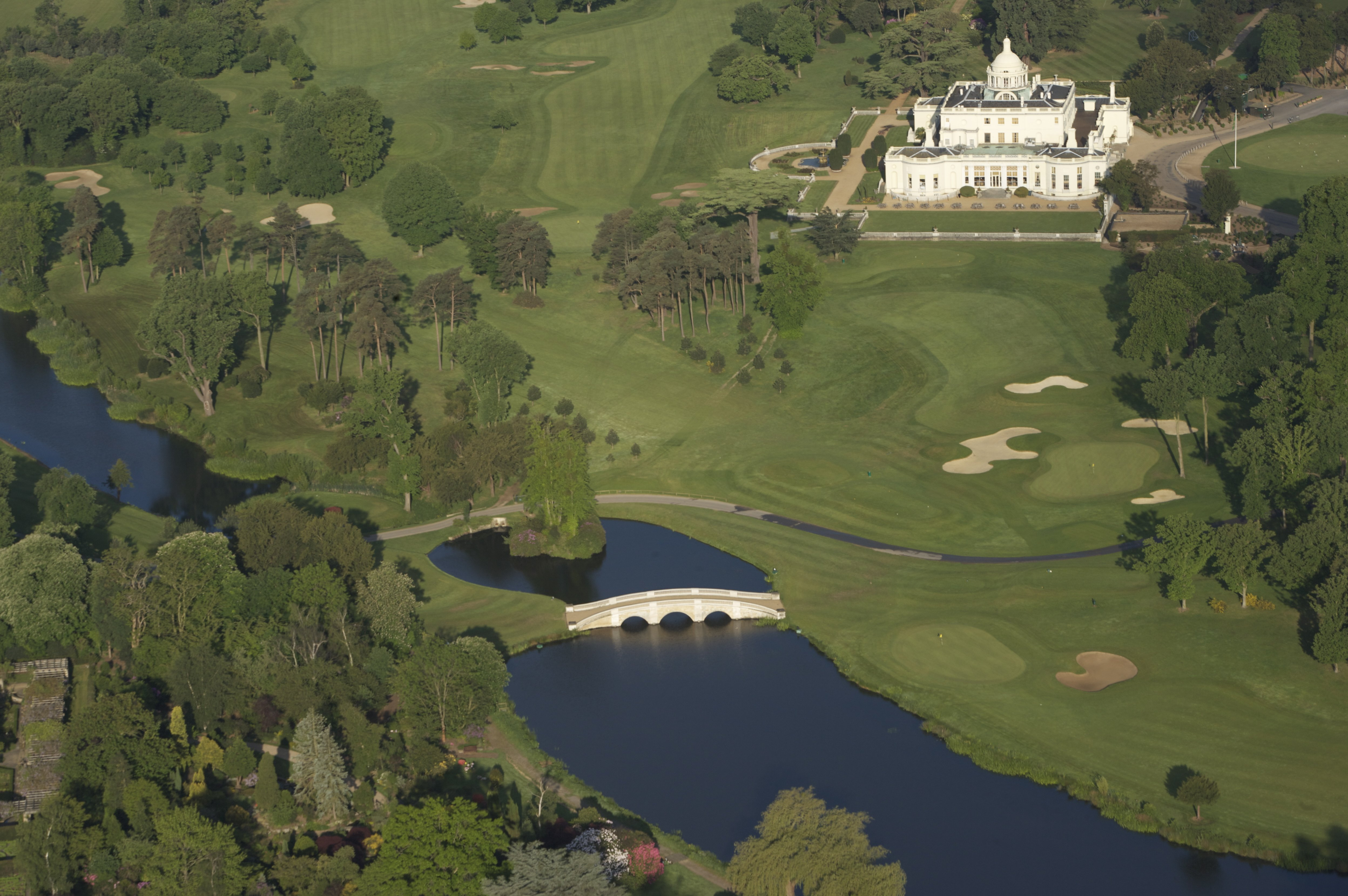 Aerial Shot of the Mansion and Repton Bridge by Durkc (CC)