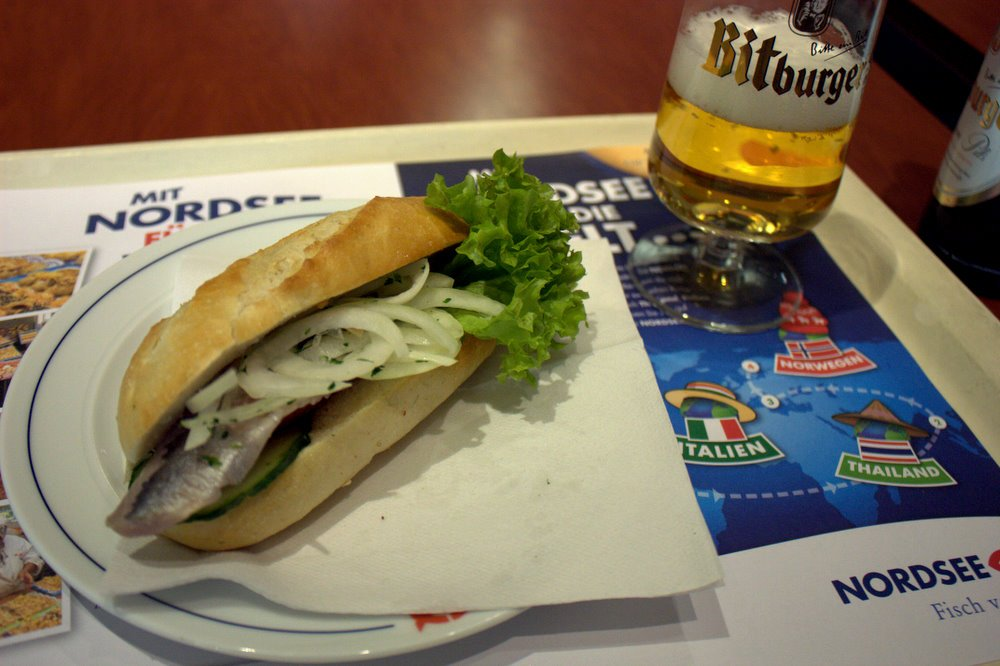 nordsee pickled fish sandwich by Krista (CC)