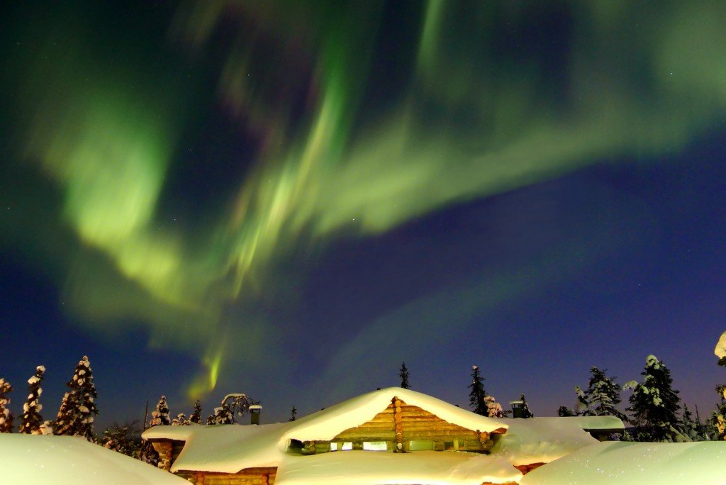 Lights over Ruka, northern Finland by: Timo Newton-Syms (CC)