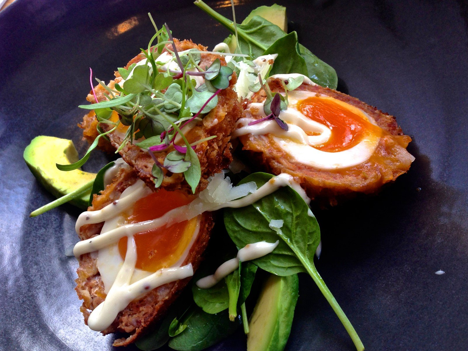 Scotch eggs at Fifty Acres cafe in Richmond by Katherine Lim (CC)