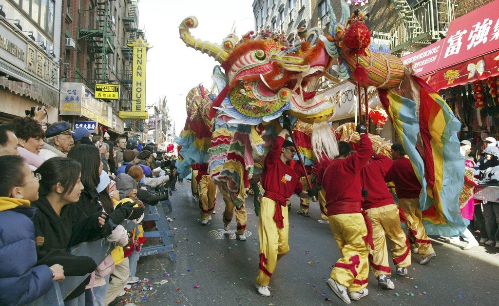 Dragon in Chinatown NYC Lunar New Year by: Patrick Kwan (CC)
