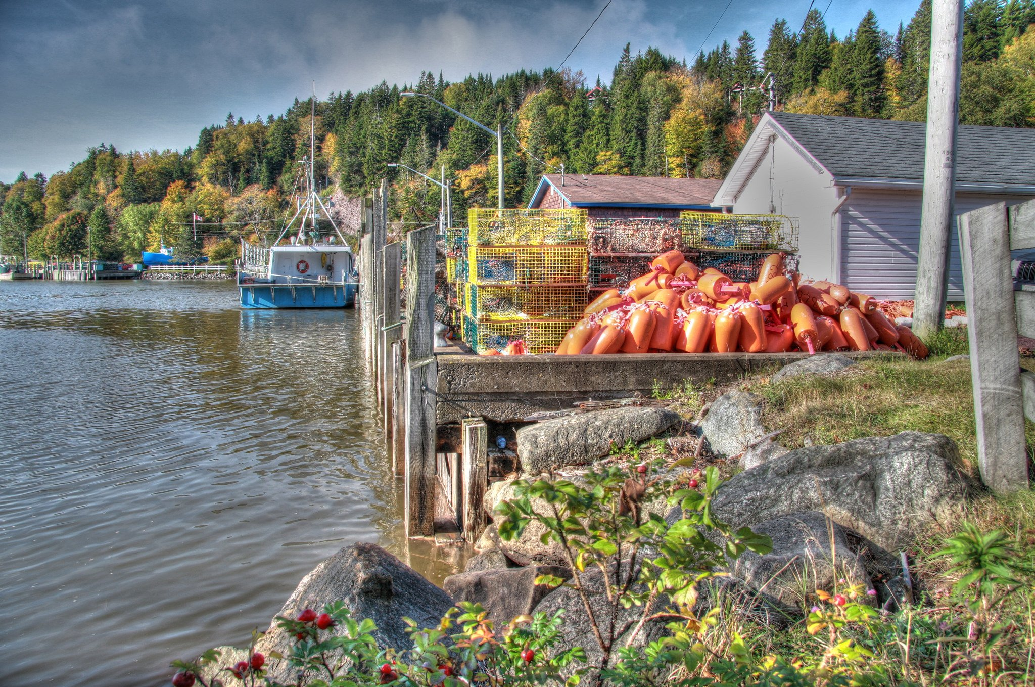 Lobster traps, Bay of Fundy by: minnimouseaunt (CC)
