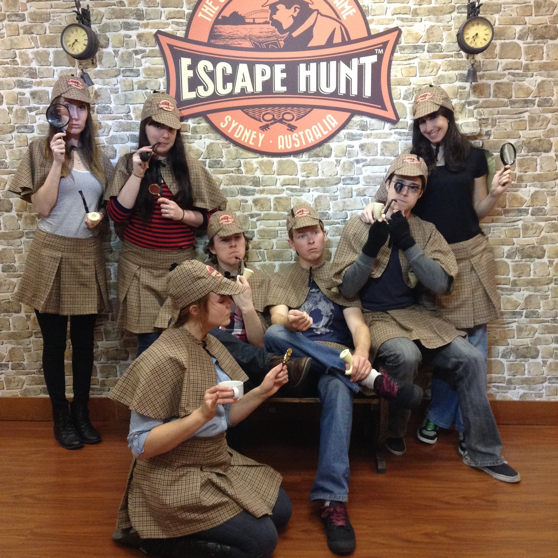 Period-costume fun after playing a real escape room