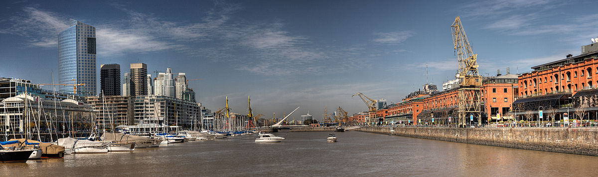 Panorama of Puerto Madero. by Luis Argerich (CC)
