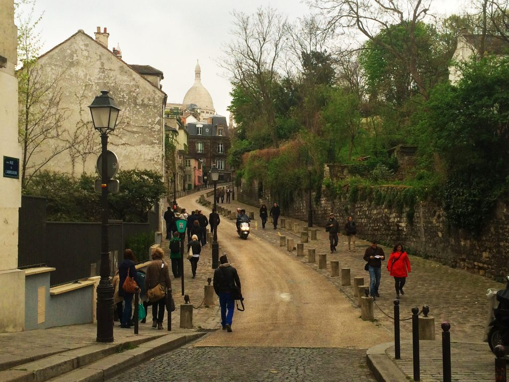 Hilly and quaint Montmartre