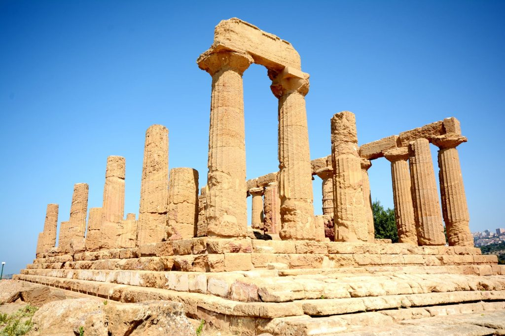 Greek ruins at the Valle dei Templi near Agrigento, Sicily